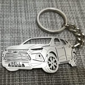chevrolet blazer rs 2020 personalized keychain, car keychain,